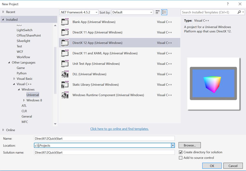DirectX 12 Programming #1: A quickstart!   Modern art using
